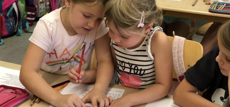 Besuch der Eisinger Kindergartenkinder in der Schule