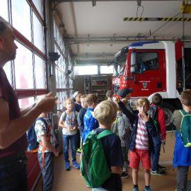 Wir waren bei der Freiwilligen Feuerwehr in Waldbrunn – Klasse 3b